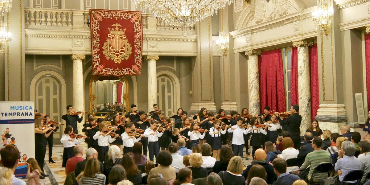 Concierto ayuntamiento de Valencia Musica Temprana